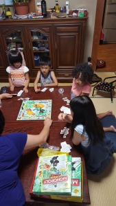 A round of Jr. Monopoly